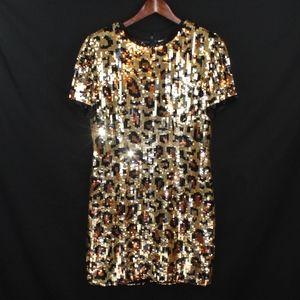 Vintage A.J. Bari Cheetah Print Party Dress sz: 10